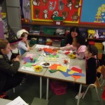 Art Class in Senior Infants with Ms. Brooks, Mr Lehmann and lots of Mammies!!